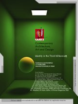 CAAD Architecture Conference poster with a radiosity render