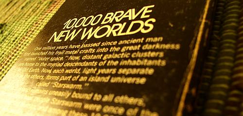 10,000 BRAVE NEW WORLDS - Photo - Starswarm by Brian Aldiss - back cover