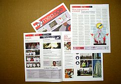 Print newsletter produced with GIMP, Inkscape and Scribus