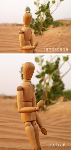 Landscape vs portrait format photographs