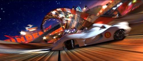 Speed Racer movie - Mach 6 on the race track