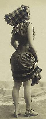 Old Photos - Girl in a vintage bathing suit