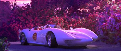 Speed Racer movie - Speed and Trixie in the Mach 5