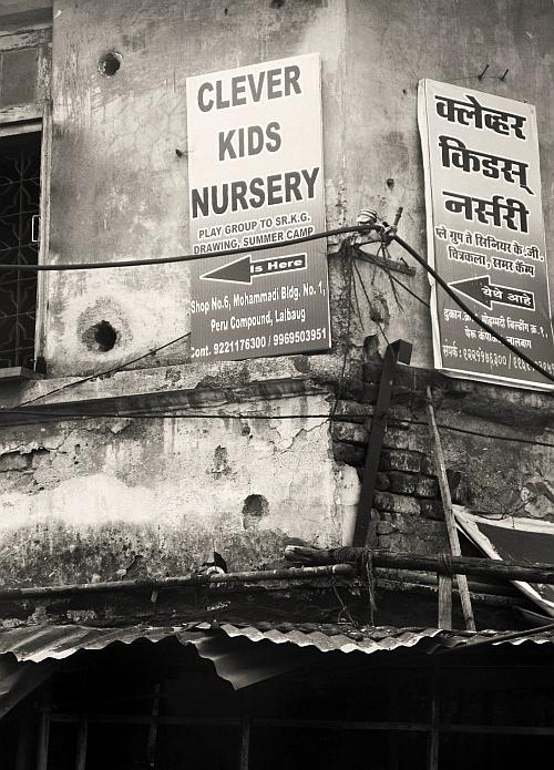 Clever Kids Nursery sign - Street Photos