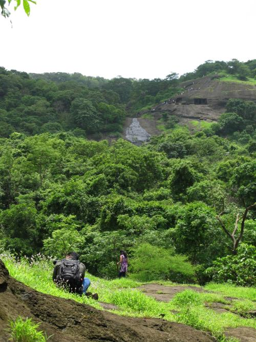 Kanheri Caves from below - Sanjay Gandhi National Park