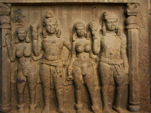 Group sculpture - Kanheri Caves