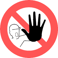 Learn How to Say No Nicely - No Addmittance Sign
