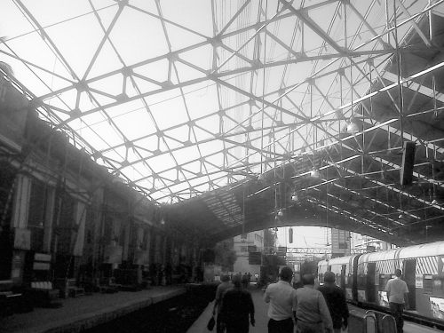 Open roof at Churchgate Station