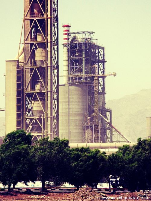 Cement factory in Dibba