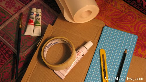 Christmas gift wrapping materials