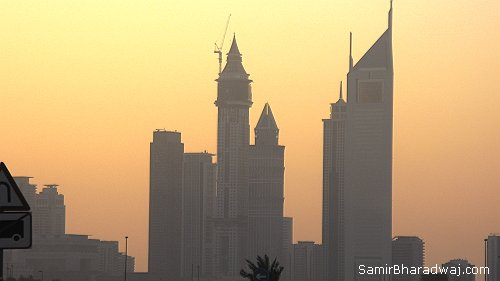 Dubia skyline at dusk - Widescreen photo