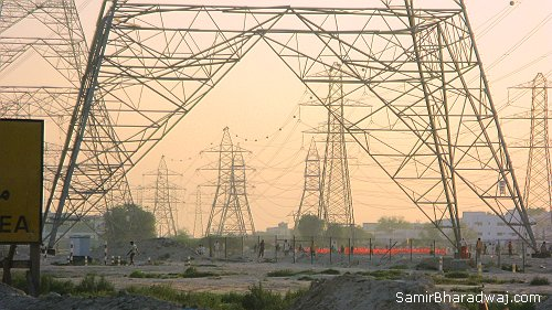 Electric pylon landscape - Widescreen photo