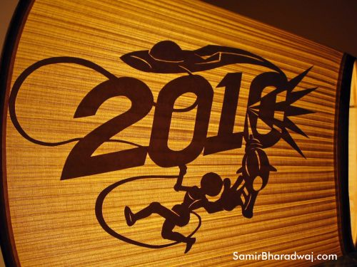 2010 paper cutting on a lamp shade