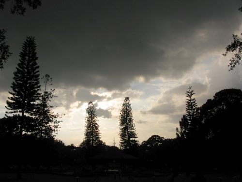 Thunder clouds at Lal Bagh