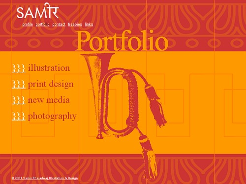 Static portfolio 2001 - Website Redesign