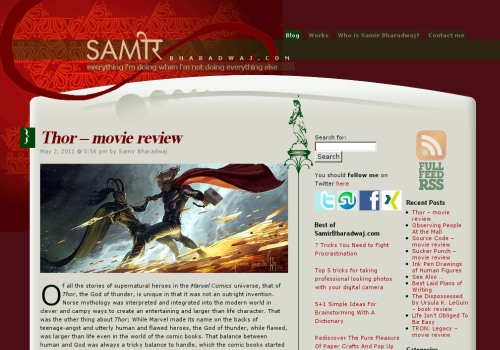 WordPress blog 2007 - Website Redesign