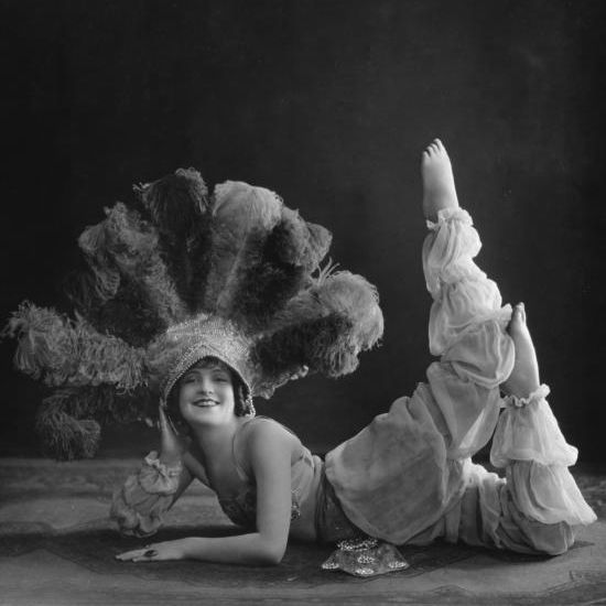 Vintage dancer in harem costume