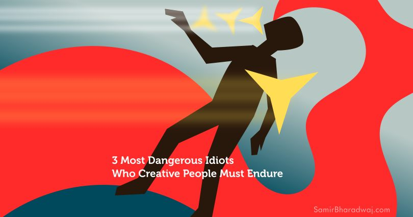 Figure being knocked back by ninja stars - 3 Most Dangerous Idiots Who Creative People Must Endure
