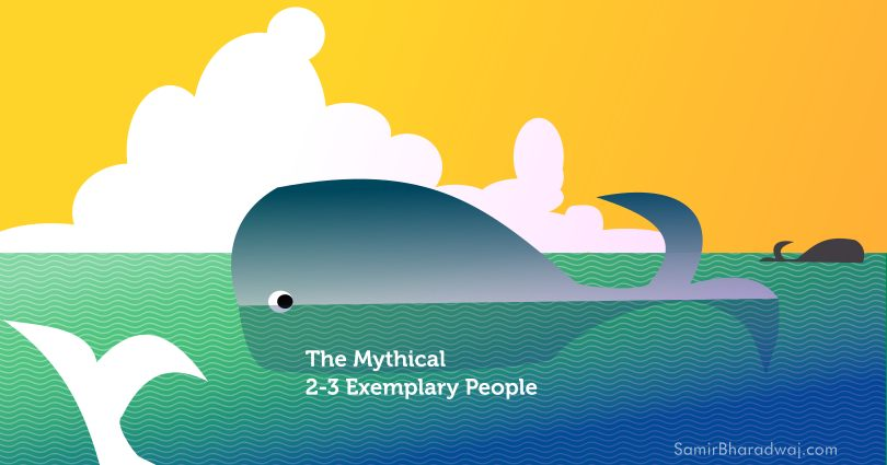 Whale-spotting in the ocean - The Mythical 2-3 Exemplary People